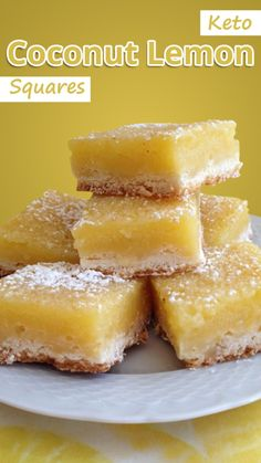 Keto Coconut Lemon Squares - Traditional lemon squares are gooey and tangy and guaranteed to make a mess of your fingers. This spin on an old classic 6 Mouth Watering Keto Diet Friendly Meal Ideas Desserts Keto, Dessert Recipes, Keto Snacks, Cookie Recipes, Sugar Free Desserts, Ketogenic Recipes, Low Carb Recipes, Diet Recipes, Keto Desert Recipes