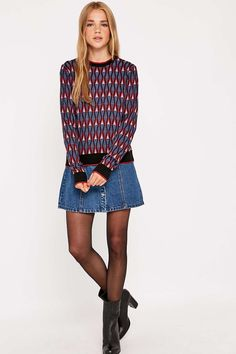 Urban Outfitters Geometric Tipped Jumper