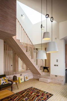 Home Design Ideas modern interiors design daniel hopwood Love these colors! Church Walk, London // by David Mikhail and Annalie Riches Best . Wooden Staircases, Wooden Stairs, Modern Staircase, Staircase Ideas, Interior Stairs, Interior Architecture, Interior And Exterior, Beautiful Interior Design, Beautiful Interiors