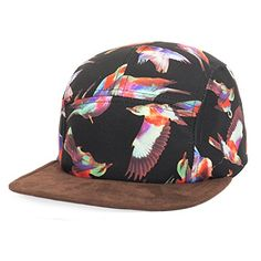 GP Accessories Mens Womens Bird Print Faux Leather Visor 5 Panel Hat Large Bird Black -- You can find out more details at the link of the image. (Note:Amazon affiliate link)