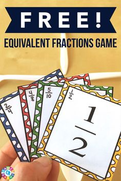 "This exciting equivalent fractions game is a twist on the classic ""Spoons"" game. Learn how to play and get your FREE equivalent fractions cards to use in your classroom! Fractions Équivalentes, 3rd Grade Fractions, Teaching Fractions, Equivalent Fractions, Fourth Grade Math, Teaching Math, Dividing Fractions, Creative Teaching, Multiplication"
