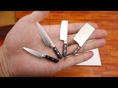 Miniature Kitchen Utensils; Knives & Whisk - Tutorial - YouTube