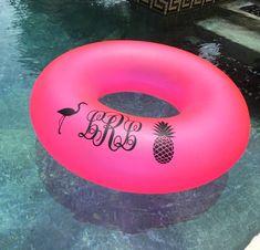 Monogrammed Pool Float