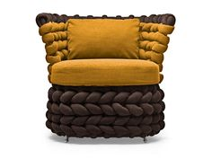 Club upholstered armchair Ziggy Collection by KENNETH COBONPUE | design Kenneth Cobonpue