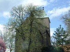 Prague- Kyje- old church in roman style of St.Bartolomeus