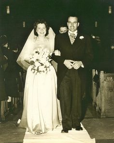Wedding of Irene and Jack, February 1946 at St. Justin's Church, Blue Hills Avenue, Hartford, Connecticut