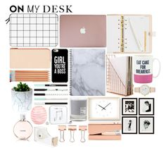 """On My Desk"" by mossie-1994 ❤ liked on Polyvore featuring interior, interiors, interior design, home, home decor, interior decorating, Casetify, Kate Spade, Maison La Bougie and Lemnos"