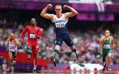 Flex: Richard Whitehead of Great Britain celebrates winning gold in the Men's 200m - T42  Picture: GETTY IMAGES