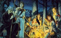 La Saga di Dragonlance - disegni e trama Le Cronache di Dragonlance sono un ciclo di tre libri fantasy scritti da Margaret Weis e Tracy Hickman ed editi dalla TSR.  Il ciclo:  I draghi del crepuscolo d'autunno I draghi della notte d'in #fantasy #romanzi #saga #dragonlance