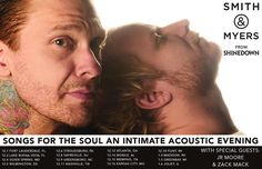 "Via @Shinedown: Excited to announce ""Songs for the Soul an Intimate Acoustic Evening"" w Brent Smith & Zach Myers! Tix on sale 9/29: http://ift.tt/2htQzrz via Instagram http://ift.tt/2htVyby Shinedown Zach Myers"