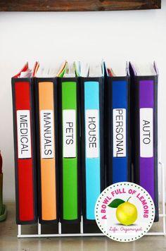 Love these home organization binders!