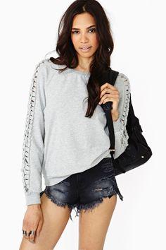 Braided Slash Sweatshirt