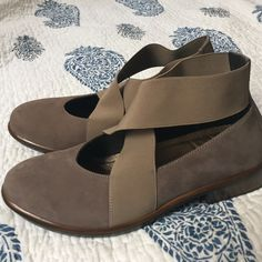 Naot Woman's Shoes Naot suede shoe made in Israel. New without box. Light tan/grey color Naot Shoes Ankle Boots & Booties