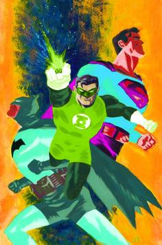 Batman/Superman #24 - Green Lantern variant cover by Dave Bullock *