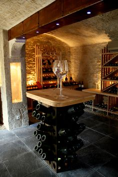 The Decopierre® imitation stone coating gives character to your … – Wine World Cave A Vin Design, Caves, Wine Cellar Basement, Beer Cellar, Home Wine Cellars, Wine Cellar Design, Restaurant Concept, Wine And Beer, Tasting Room