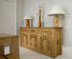 Bespoke handmade character oak cabinet   Custom built oak furniture