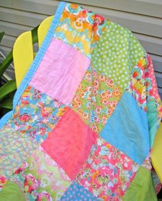 how to make a simple quilt.  I love curling up with a raggedy quilt!