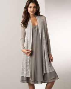 Eileen Fisher Lace Cardigan   Sleeveless Silk Dress 5f5e0f3d6