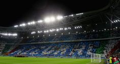A general view of the fans during the FIFA 2018 World Cup Qualifier between Italy and Spain at Juventus Stadium on October 6, 2016 in Turin.
