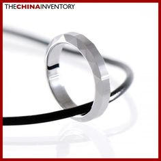 TUNGSTEN CARBIDE FACETED RING PENDANT NECKLACE P1303