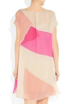 BOTTEGA VENETA Layered silk-chiffon dress #colorblock