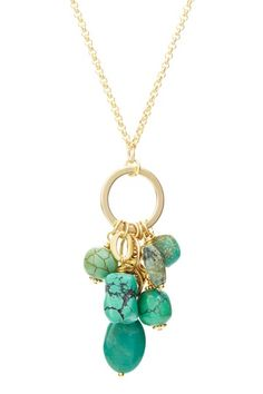 mariechavez Green Turquoise Charm Endless Necklace
