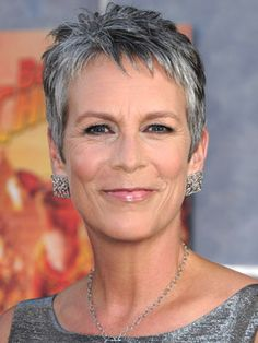 Ok. I guess I HAVE to included one picture of the Hollywood Poster Child for Going Gray - Ms. Curtis. P.S. and this is why we with gray hair like to wear SILVER! Looks smashing, eh?