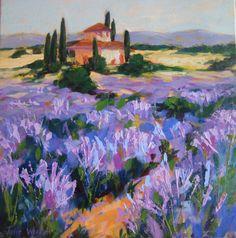 Image result for lavender field tile mural