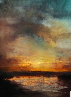 "Artist: Maurice Sapiro; Oil 2011 Painting ""Sunset, Reflected"""