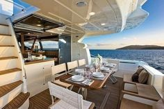 Dinner on the yacht