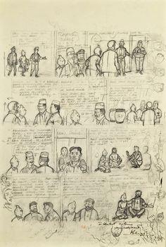 Hergé Crayonné Tintin au Tibet Comic Art Comic Book Pages, Comic Page, Comic Books Art, Book Art, Tintin Au Tibet, Haddock Tintin, Comic Character, Character Design, Tibet Art