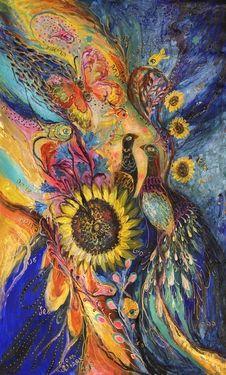 """Saatchi Art Artist Elena Kotliarker; Painting, """"The Sunflower ... available for direct purchase from www.elenakotliarker.com"""" #art"""