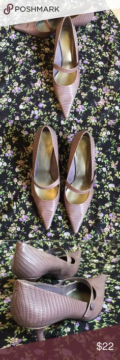 "Nine West lavender pumps Mary Jane pointy toe Pretty lavender pumps, Mary Jane with skinny 2.5"" heel. Great pop of sophisticated color! Nine West Shoes Heels"