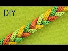 Warm and Soft Winter Bracelet - 4 Strand Braid Tutorial - YouTube