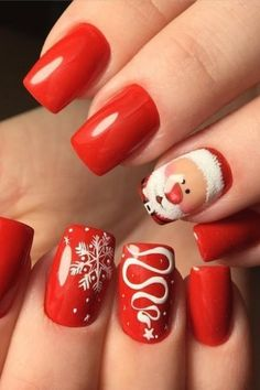 Nägel für Weihnachten: die besondere Nagelkunst des Jahres – Nagel Kunst Nails for Christmas: the special nail art of the year # particular # of # the # for … Shellac, Essie, Nailart, Finger, Les Nails, Special Nails, Nagel Blog, Christmas Manicure, Nail Polish