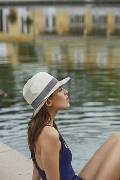 Thermalbad Badeanzug by Veronica Dreyer Veronica, Hats, Mad Hatters, Swimsuit, Nice Asses, Hat, Hipster Hat