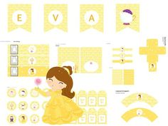 Beauty and the Beast Printables, Beauty and the Beast Party Printable, Beauty and the Beast Party Package, Beauty and the Beast, Belle Party