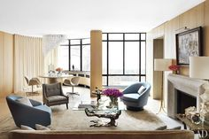 A New York Apartment By Steven Harris And Lucien Rees Roberts. Living Room  ...