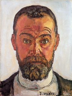 Ferdinand Hodler (1853-1918) Self Portrait Born: 14 March 1853; Bern, Switzerland . Died: 19 May 1918; Geneva, Switzerland. Swiss painter - Movement : Symbolism, Art Nouveau