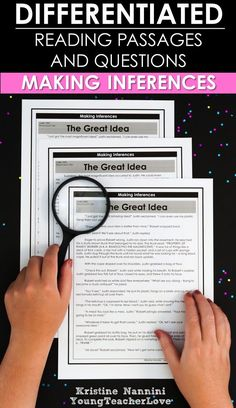 Making Inferences - Inferencing Reading Comprehension Passages and Questions - Differentiated Passages and Questions to practice making inferences for students. These are perfect for guided groups, intervention, homework, and more! Give them a try today with your 3rd, 4th, 5th, or 6th grade classroom or homeschool students. Learning how to inference does NOT have to be a challenge. (third, fourth, fifth, sixth graders, home school) #MakingInferences