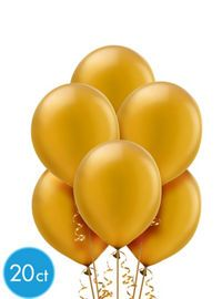 Gold Decorations - Gold Balloons, Banners & Confetti - Party City $4