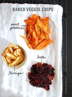Baked Veggie Chips / Inspired to Share