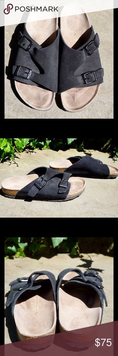 Birkenstock Zurich black leather sandals 38 L7! Birkenstock Zurich black leather / suede sandals size 38 L7! Great condition, little signs of wear. Birkenstock Shoes Sandals