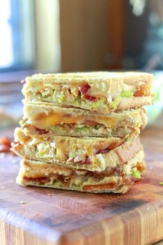 Chicken, Bacon and Avocado Panini!!