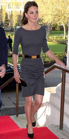 Duchess Catherine in Amanda Wakeley dress, Jimmy Choo heels, and Anya Hindmarch clutch, April 2012
