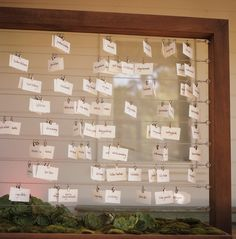Clothesline Seating Chart-