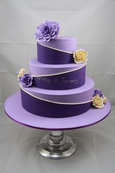 Kristy & Jeremy Wedding Cake by Designer Cakes By Effie, via Flickr
