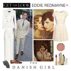 """""""Get the Look: The Danish Girl"""" by polyvore-editorial ❤ liked on Polyvore featuring Balmain, Dolce&Gabbana, Diane Von Furstenberg, H&M, Alexander Olch, Yves Saint Laurent, Milani, Ralph Lauren and TheDanishGirl"""