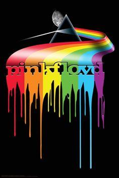 Pink Floyd Dripping Darkside Paper Poster - 24x36