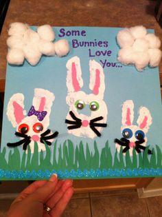 Hand print bunnies :)